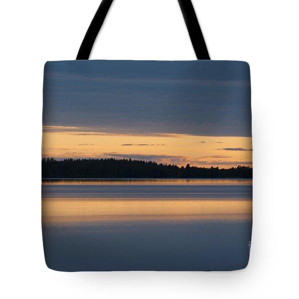 Morning Sun Rising at Arctic Sea Tote Bag by Heiko Koehrer-Wagner