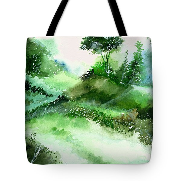 Morning Walk 1 Tote Bag by Anil Nene