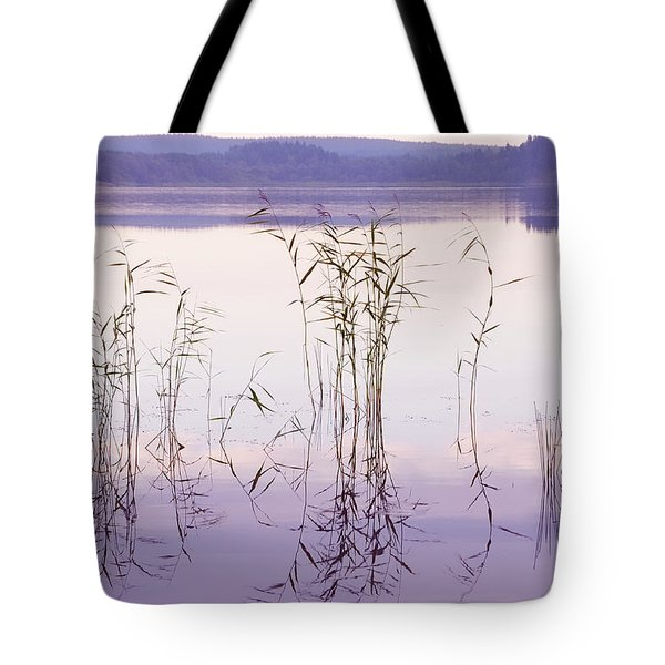 Morning Zen. Pearly Moments of Sunrise. Ladoga Lake. Northern Russia Tote Bag by Jenny Rainbow