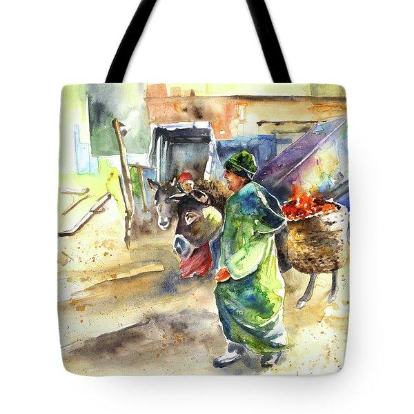 Morrocan Market 04 Tote Bag by Miki De Goodaboom