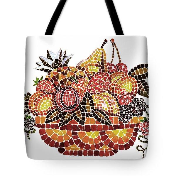 Mosaic Fruits Tote Bag by Irina Sztukowski