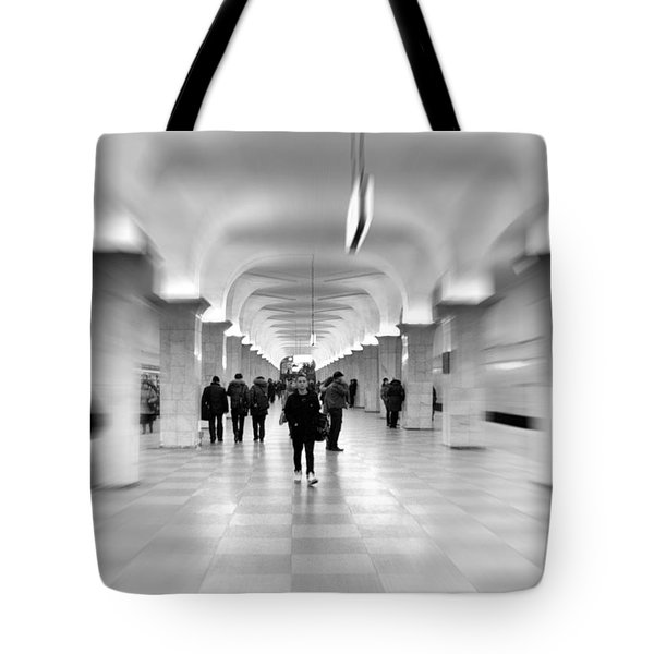 moscow underground Tote Bag by Stylianos Kleanthous