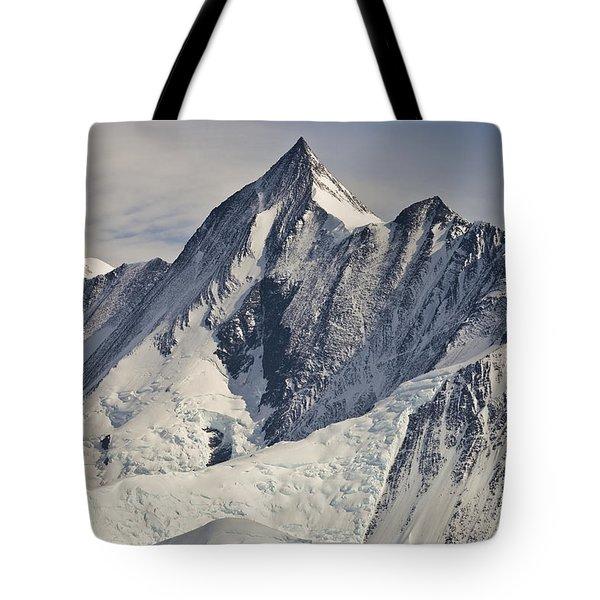 Mount Herschel Above Cape Hallett Tote Bag by Colin Monteath