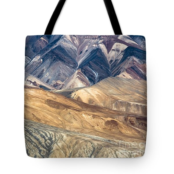 Mountain Abstract 4 Tote Bag by Hitendra SINKAR