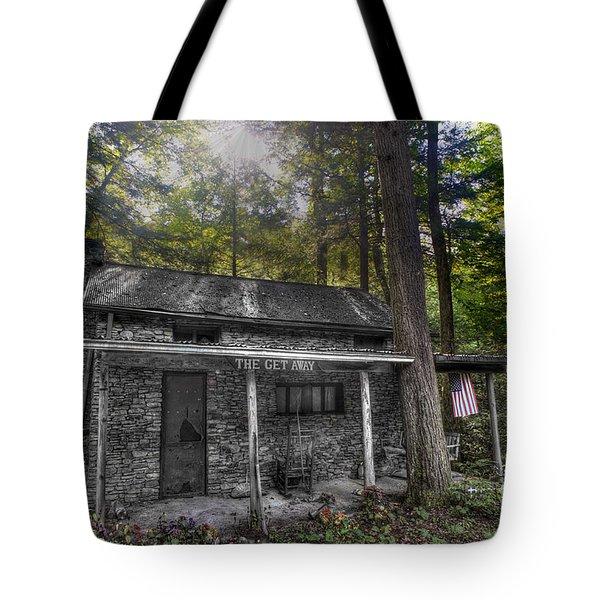 Mountain Cabin Tote Bag by Dan Friend