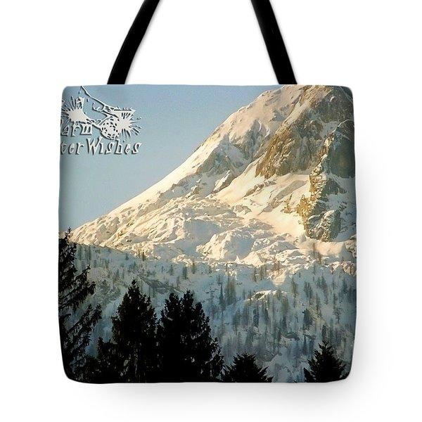 Mountain Christmas 2 Austria Europe Tote Bag by Sabine Jacobs