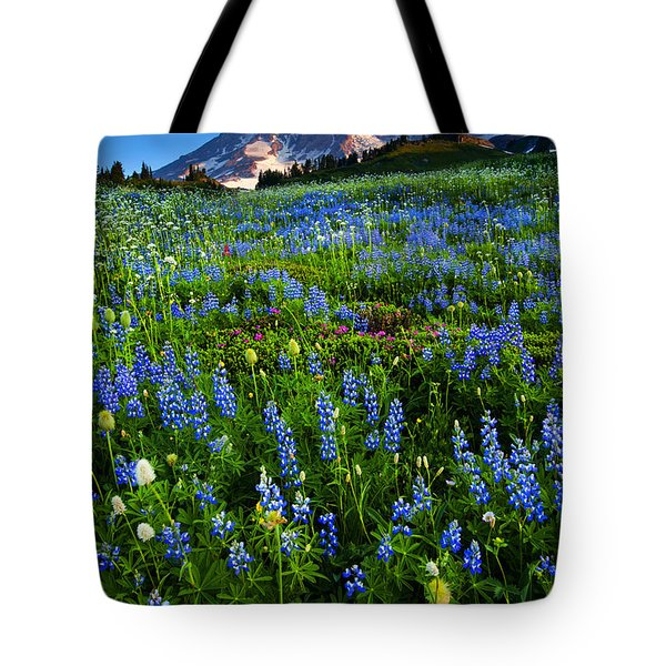 Mountain Garden Tote Bag by Mike  Dawson