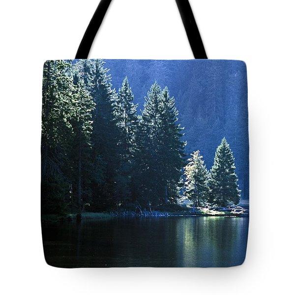 Mountain Lake In Arbersee, Germany Tote Bag by John Doornkamp