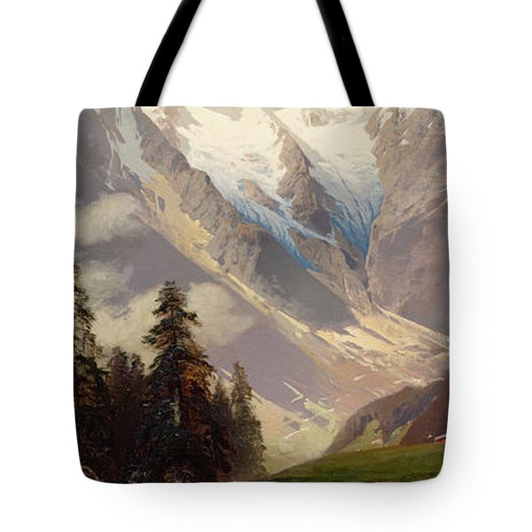 Mountain Landscape With The Grossglockner Tote Bag by Nicolai Astudin