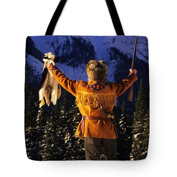 Mountain Man 1 Tote Bag by Bob Christopher