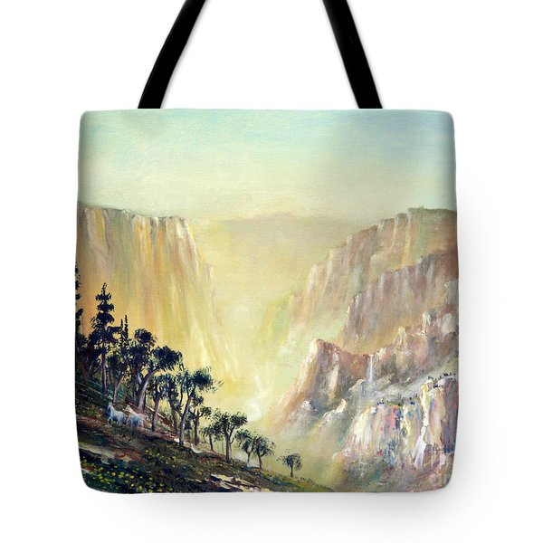 Mountain of The Horses 1989 Tote Bag by Wingsdomain Art and Photography