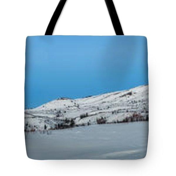 Mountain range along the Dempster Highway Tote Bag by Priska Wettstein