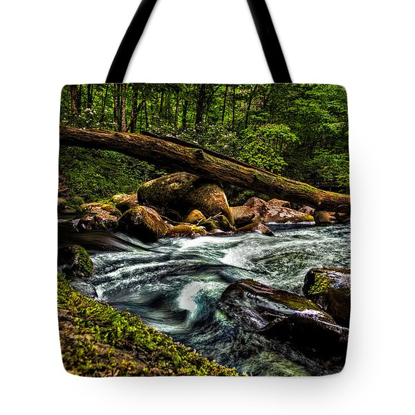 Mountain Stream Iv Tote Bag by Christopher Holmes