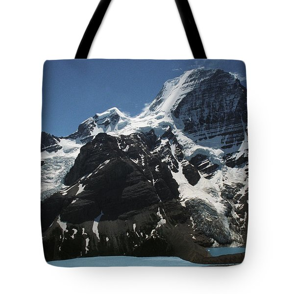 Mountain With Glacier And Snow Tote Bag by Kelly Redinger
