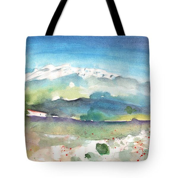 Mountains By Agia Galini Tote Bag by Miki De Goodaboom