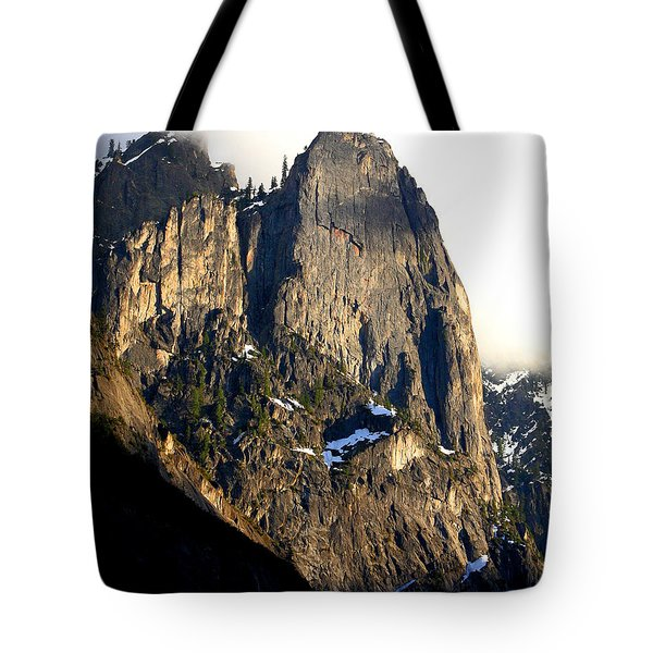 Mountains Of Yosemite . 7d6167 . Vertical Cut Tote Bag by Wingsdomain Art and Photography