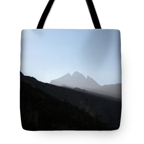Mountains Tote Bag by Oliver Johnston