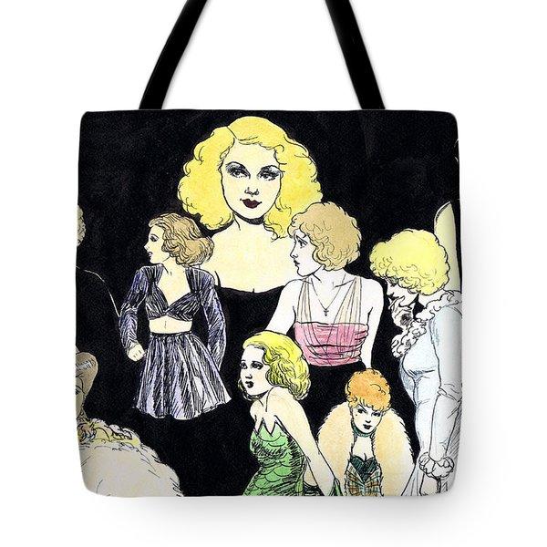Movie Ladies Montage Tote Bag by Mel Thompson