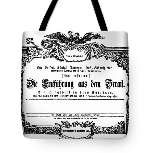 Mozart: Seraglio, 1782 Tote Bag by Granger