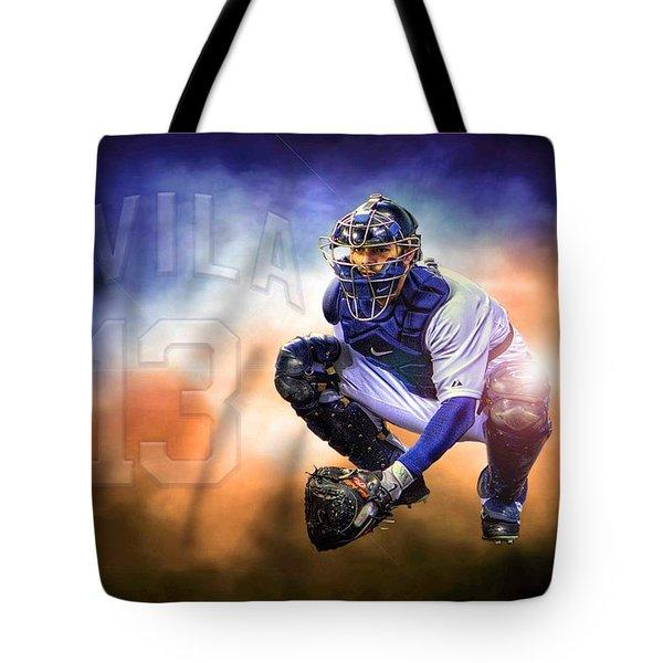Mr. Alex Avila Tote Bag by Nicholas  Grunas