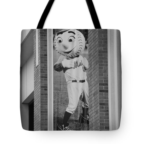MR MET in BLACK AND WHITE Tote Bag by ROB HANS