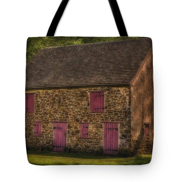 Mule Barn  Tote Bag by Susan Candelario