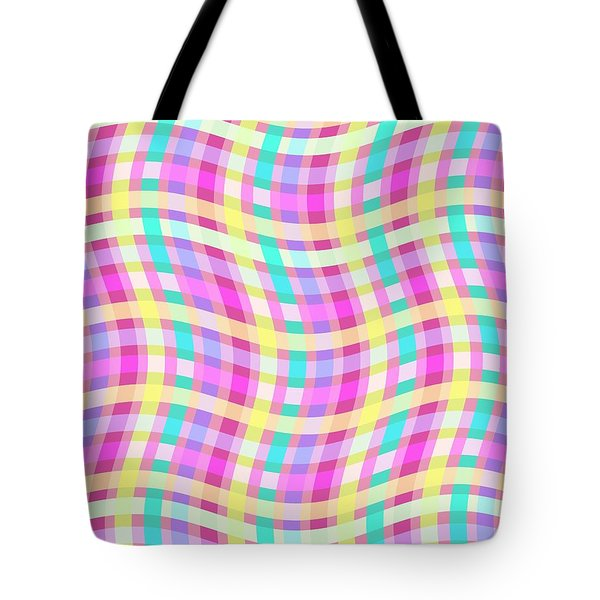 Multi Check Tote Bag by Louisa Knight