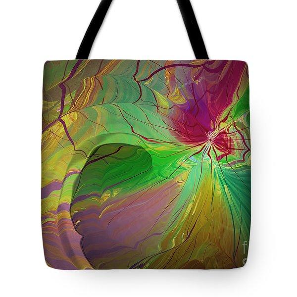 Multi Colored Rainbow Tote Bag by Deborah Benoit