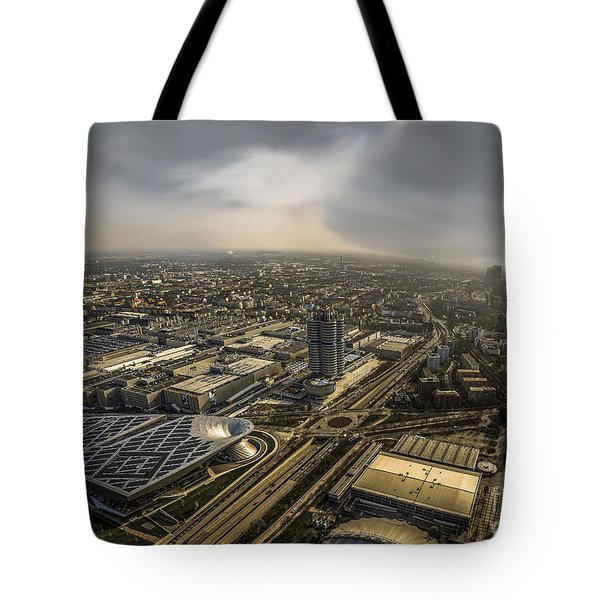 Munich From Above - Vintage Part Tote Bag by Hannes Cmarits