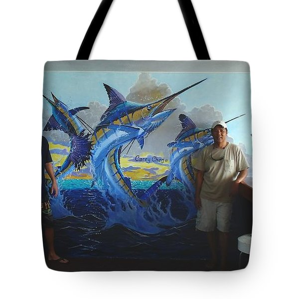 Mural In Bimini Tote Bag by Carey Chen