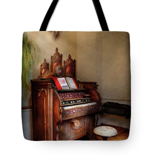 Music - Organ - Hear The Joy  Tote Bag by Mike Savad