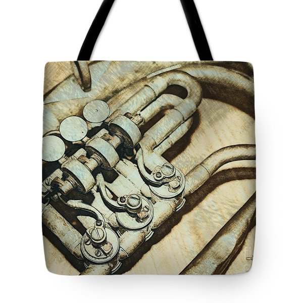 Music of the Past Tote Bag by Jutta Maria Pusl