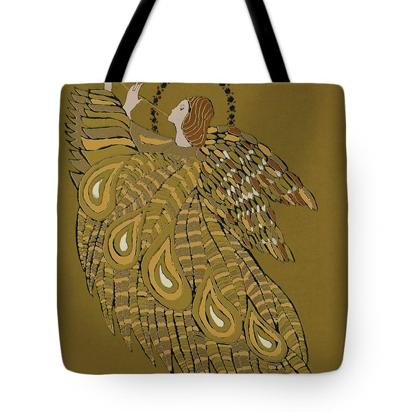 Musical Angel Tote Bag by Gillian Lawson