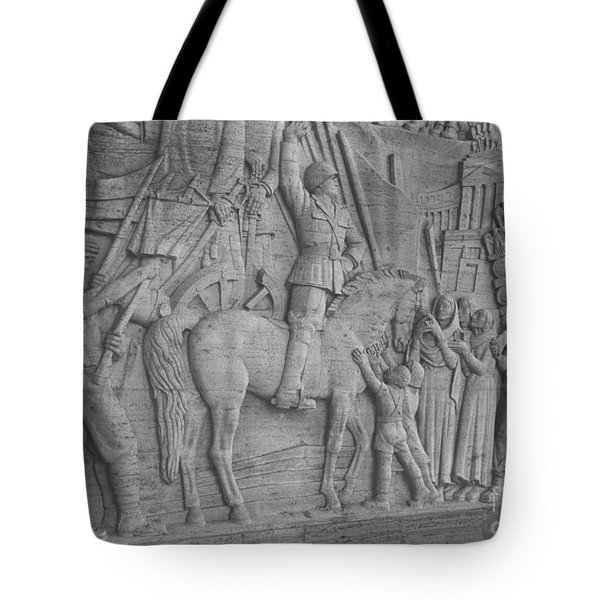 Mussolini, Haut-relief Tote Bag by Photo Researchers