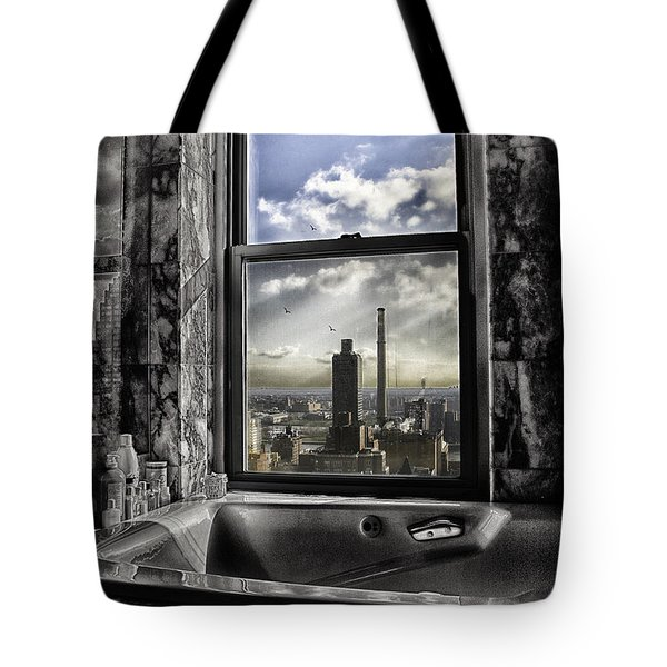 My Favorite Channel Is Manhattan View Tote Bag by Madeline Ellis