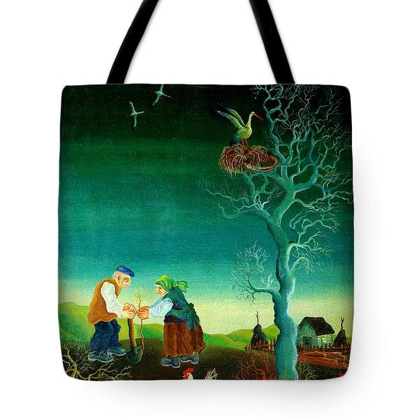 My Old Village  Tote Bag by Leon Zernitsky