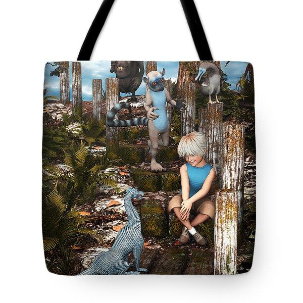 Mysterious Path Tote Bag by Jutta Maria Pusl