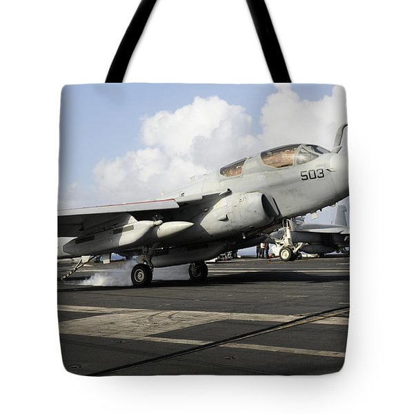 N Ea-6b Prowler Makes An Arrested Tote Bag by Stocktrek Images