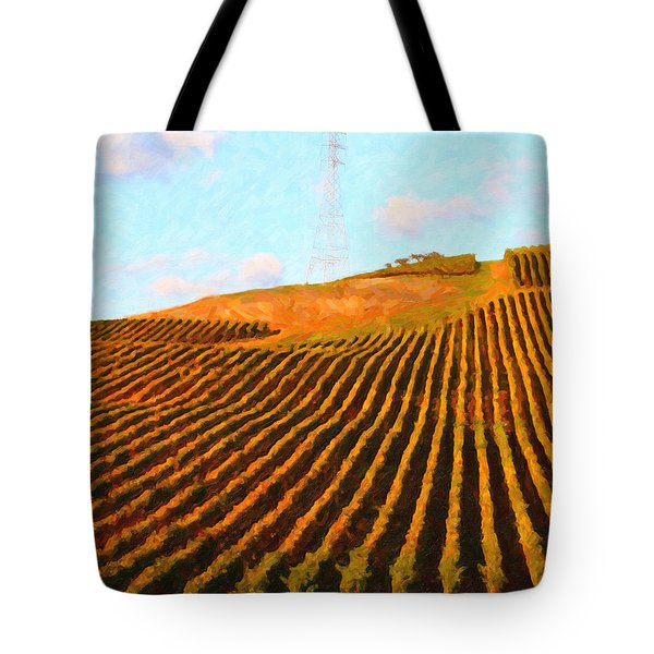Napa Valley Vineyard . Portrait Cut Tote Bag by Wingsdomain Art and Photography