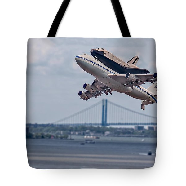 Nasa Enterprise Space Shuttle Tote Bag by Susan Candelario
