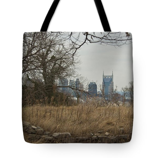 Nashville Skyline From The Fort Tote Bag by Douglas Barnett