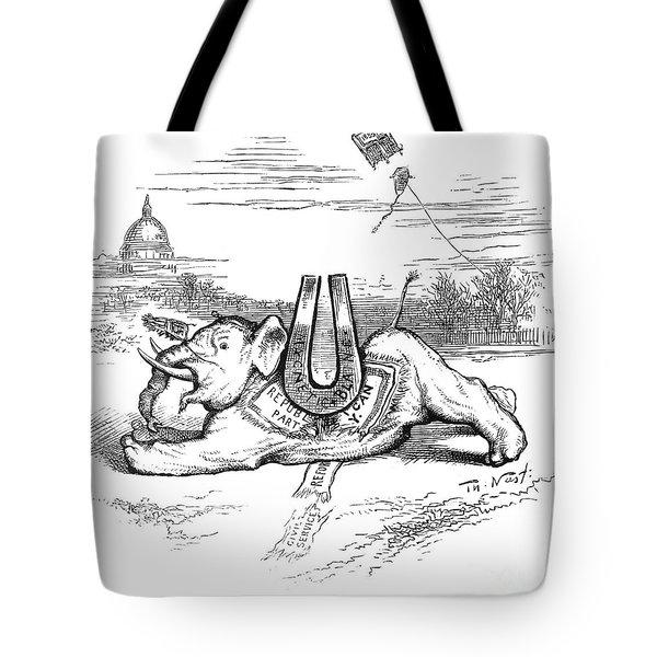 Nast: Blaine Cartoon, 1884 Tote Bag by Granger