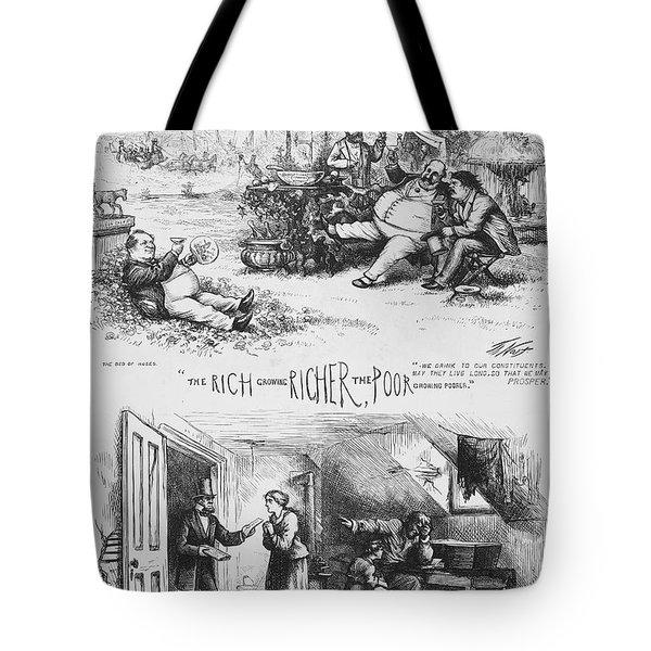 Nast: Tweed Ring Cartoon Tote Bag by Granger
