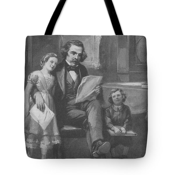 Nathaniel Hawthorne, American Author Tote Bag by Photo Researchers