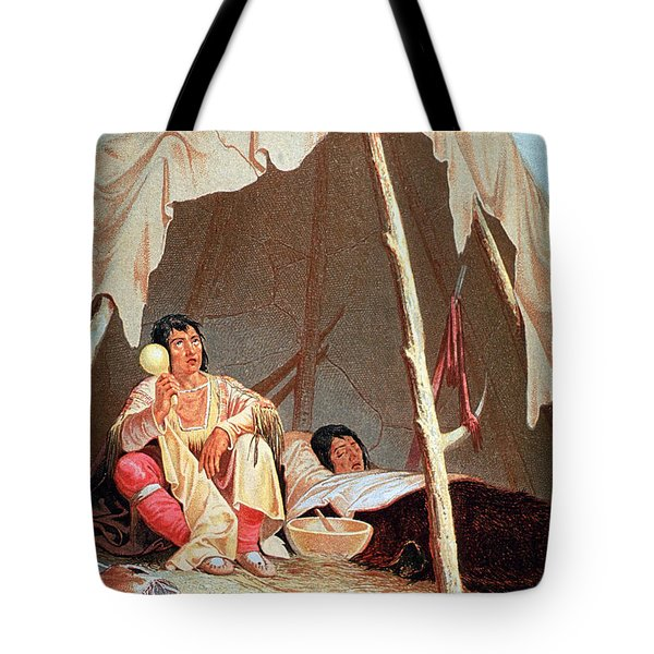 Native American Indian Medicine Man Tote Bag by Science Source