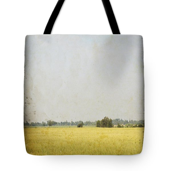 nature painting on old grunge paper Tote Bag by Setsiri Silapasuwanchai