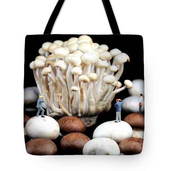 Nature Photographers Shooting Adventure Tote Bag by Paul Ge