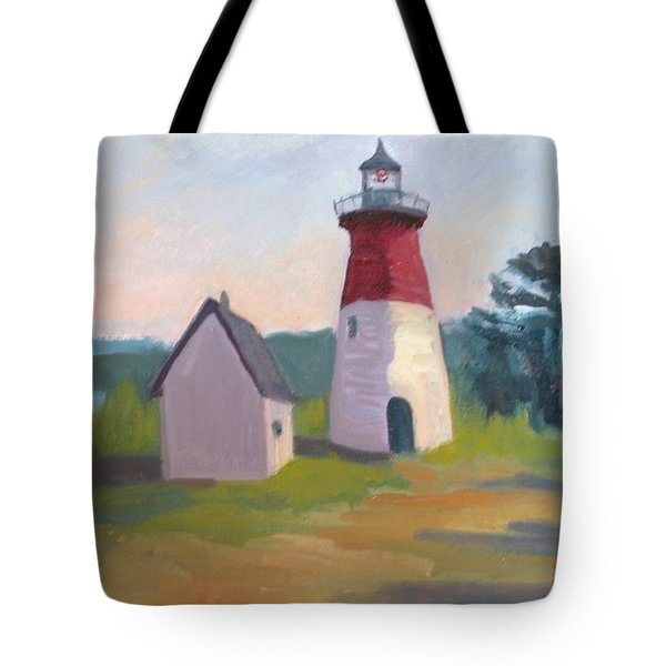 Nauset Lighthouse Cape Cod Tote Bag by Suzanne Elliott