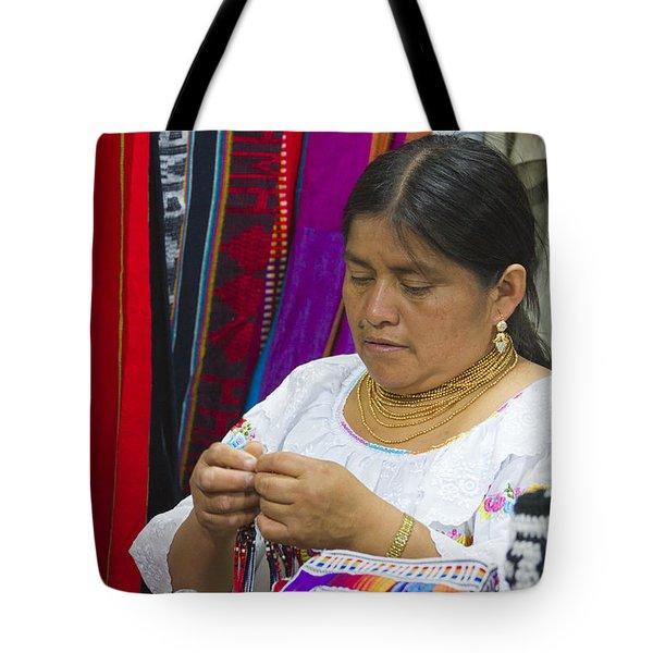 Needleworking Lady Tote Bag by Heiko Koehrer-Wagner