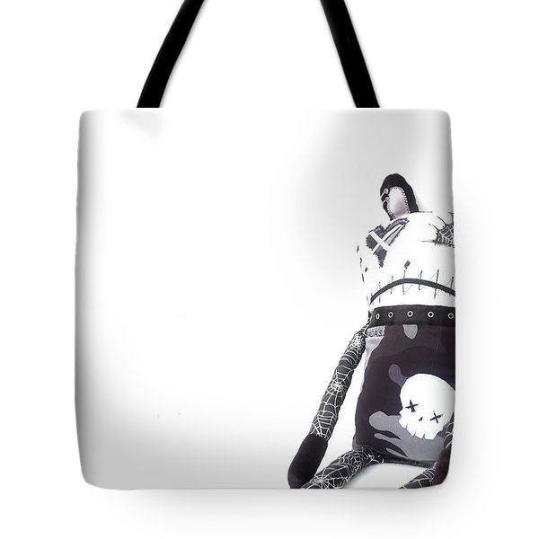 Nelson The Bad Ass Bear Zombie Tote Bag by Oddball Art Co by Lizzy Love